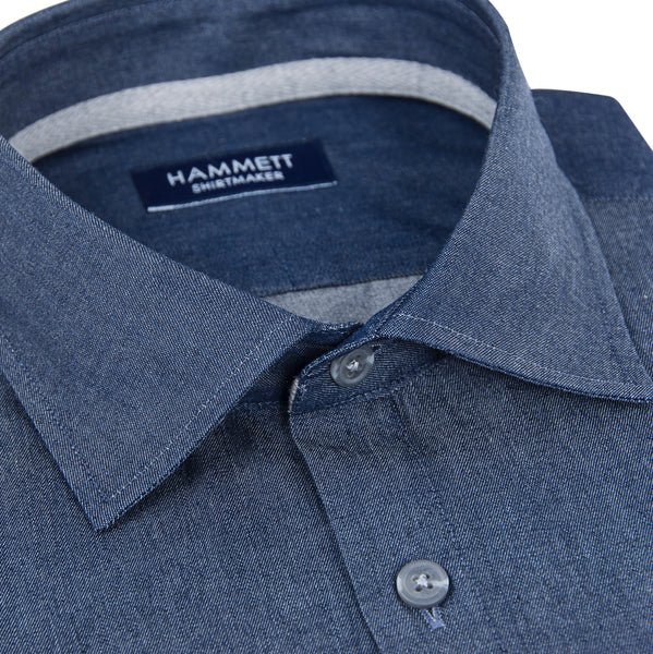 Denim Dark Blue Wash Men's Shirt