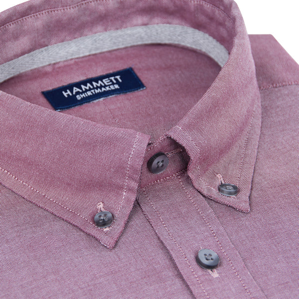 Wine Oxford Weave Men's Shirt
