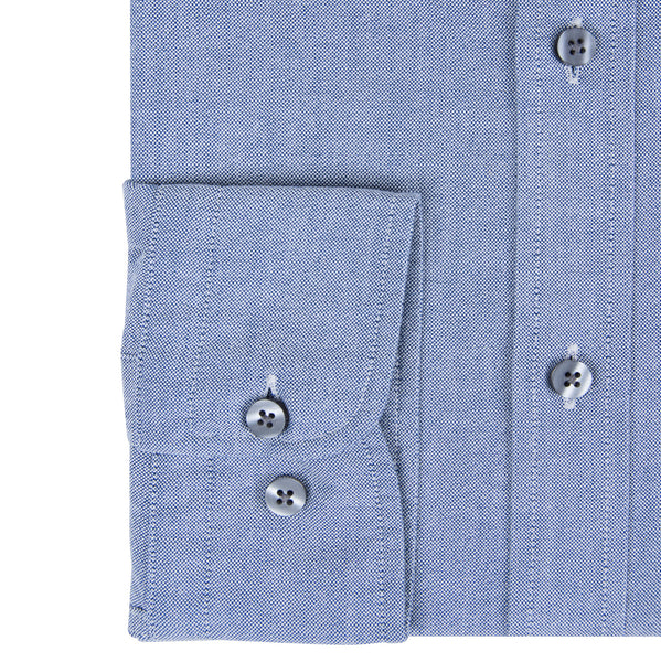 Blue Oxford Weave Casual Men's Shirt