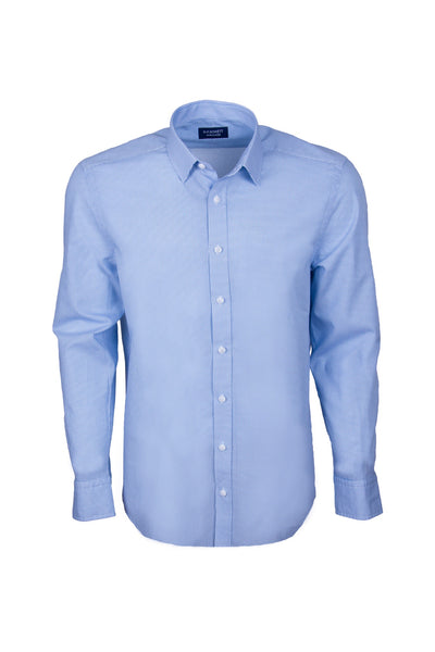 Micro Motif Blue Print Smart Casual Men's Shirt