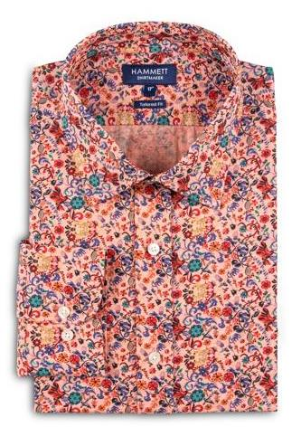 Colourful Floral Print Regular Fit Men's Shirt