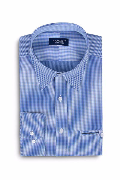 Blue Oval Design Men's Shirt