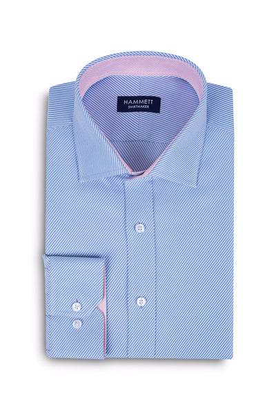 Blue Luxury Twill Formal Men's Shirt