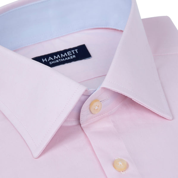 Pale Pink Fine Poplin Men's Shirt