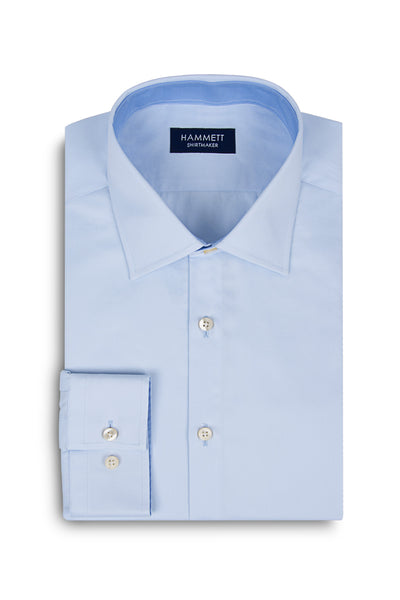 Pale Blue Fine Twill Formal Men's Shirt