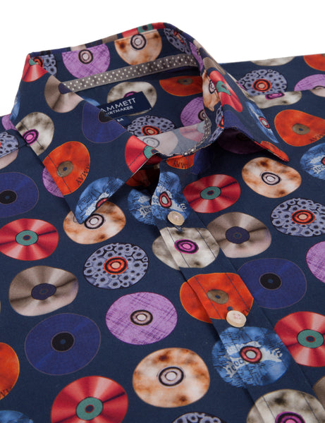 The MEMPHIS men's music print shirt