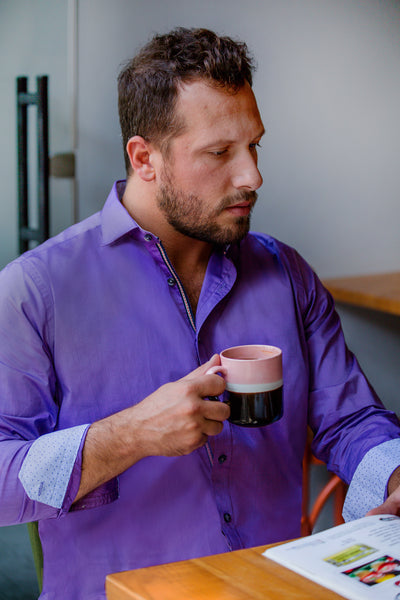 The NEW YORK Men's Purple Shirt