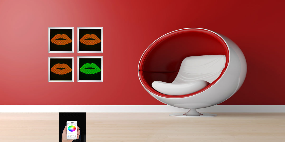 Decorative color changing LED Lip Art Lights, They bring together the best of both worlds in interior design, while having beautiful art pierces with unique color changing LED lights to enhance various spaces.
