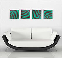 led arts artwork wall decor minimalist multi colors zebra artwork lights led light panels