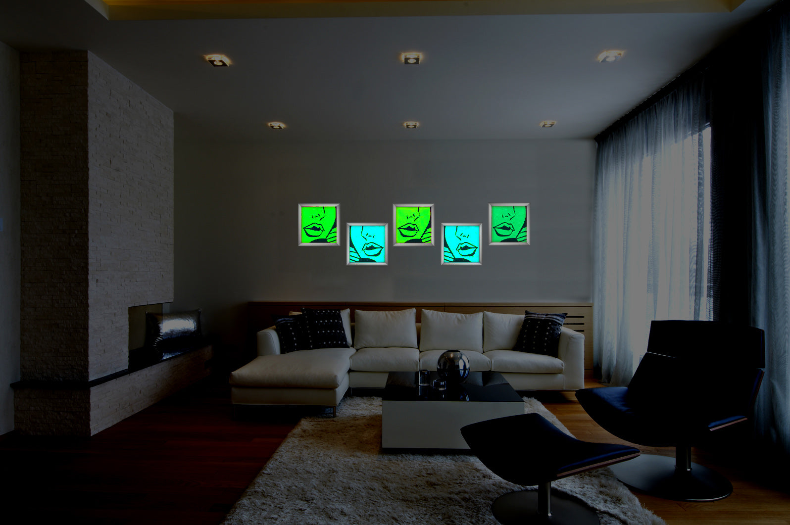 Led Art work, Art lights. led art home decor, abstract home decor, modern wall art led light , rgb led, wifi control art
