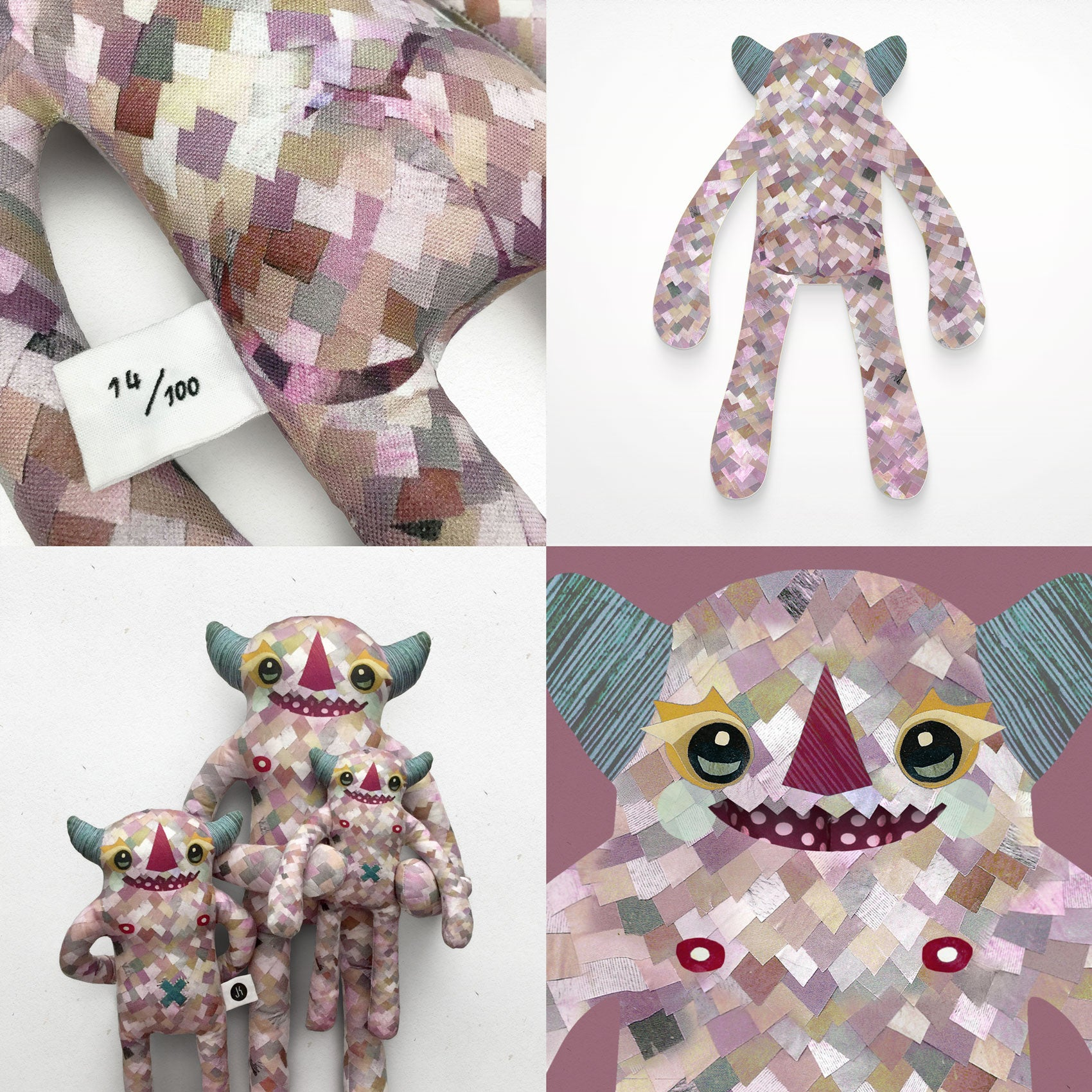 Anderson - Papercut Monsters - Handmade Stuffed Toy