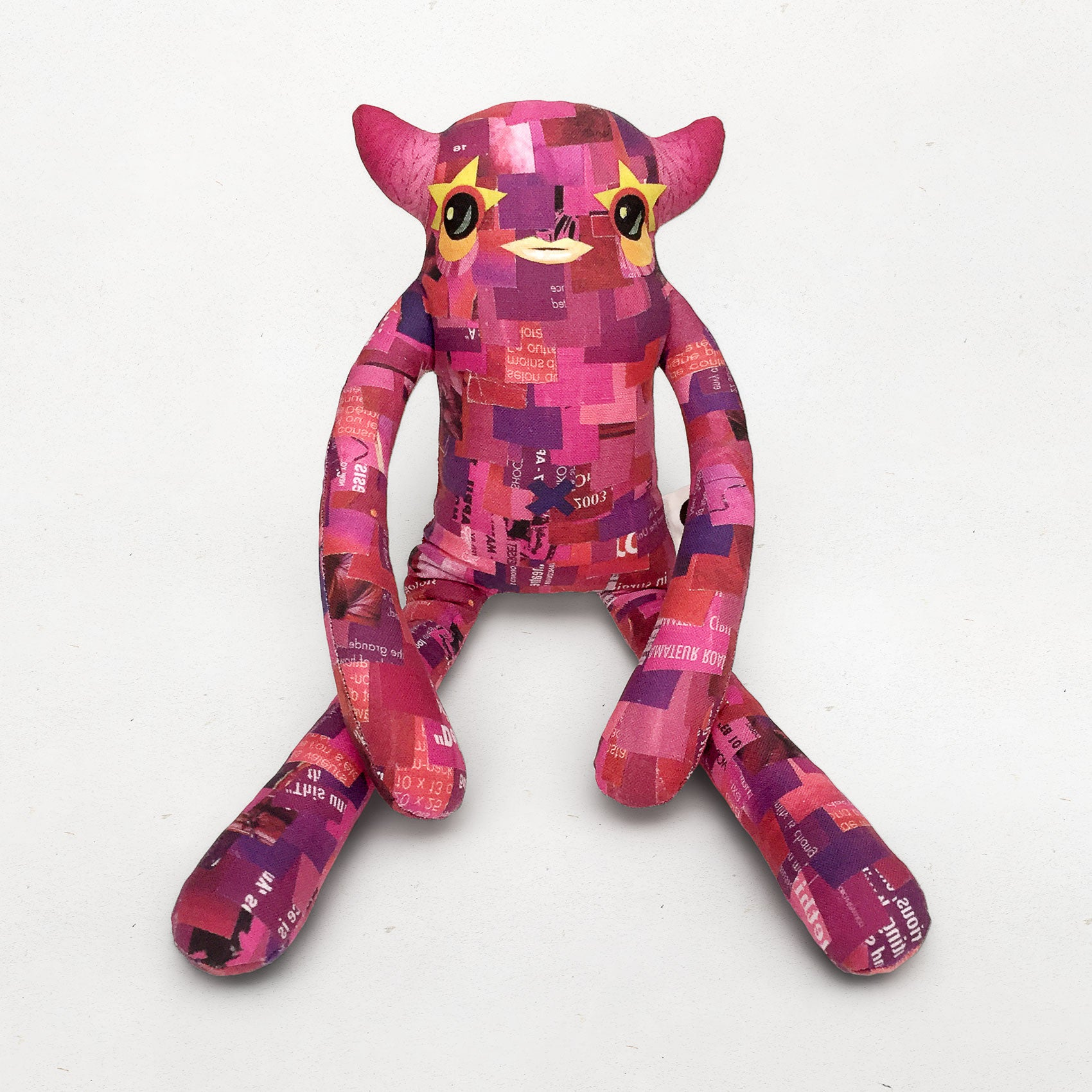 Charlene - Papercut Monsters - Handmade Stuffed Toy