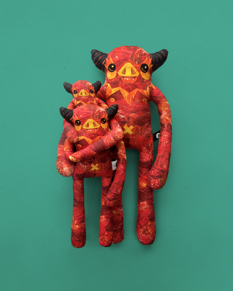 Carver - Papercut Monsters - Handmade Stuffed Toy