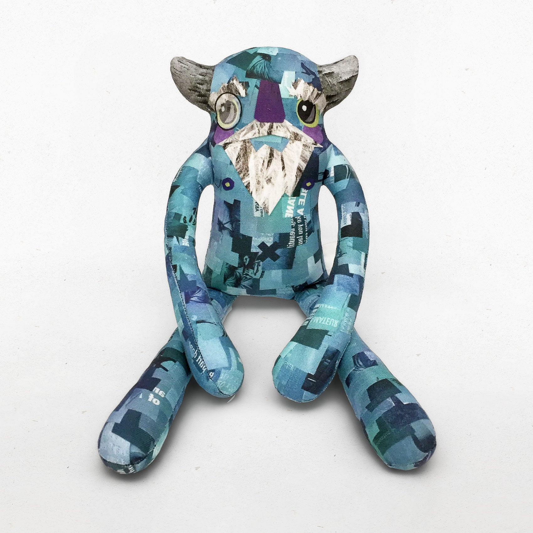 Gustav - Papercut Monsters - Handmade Stuffed Toy