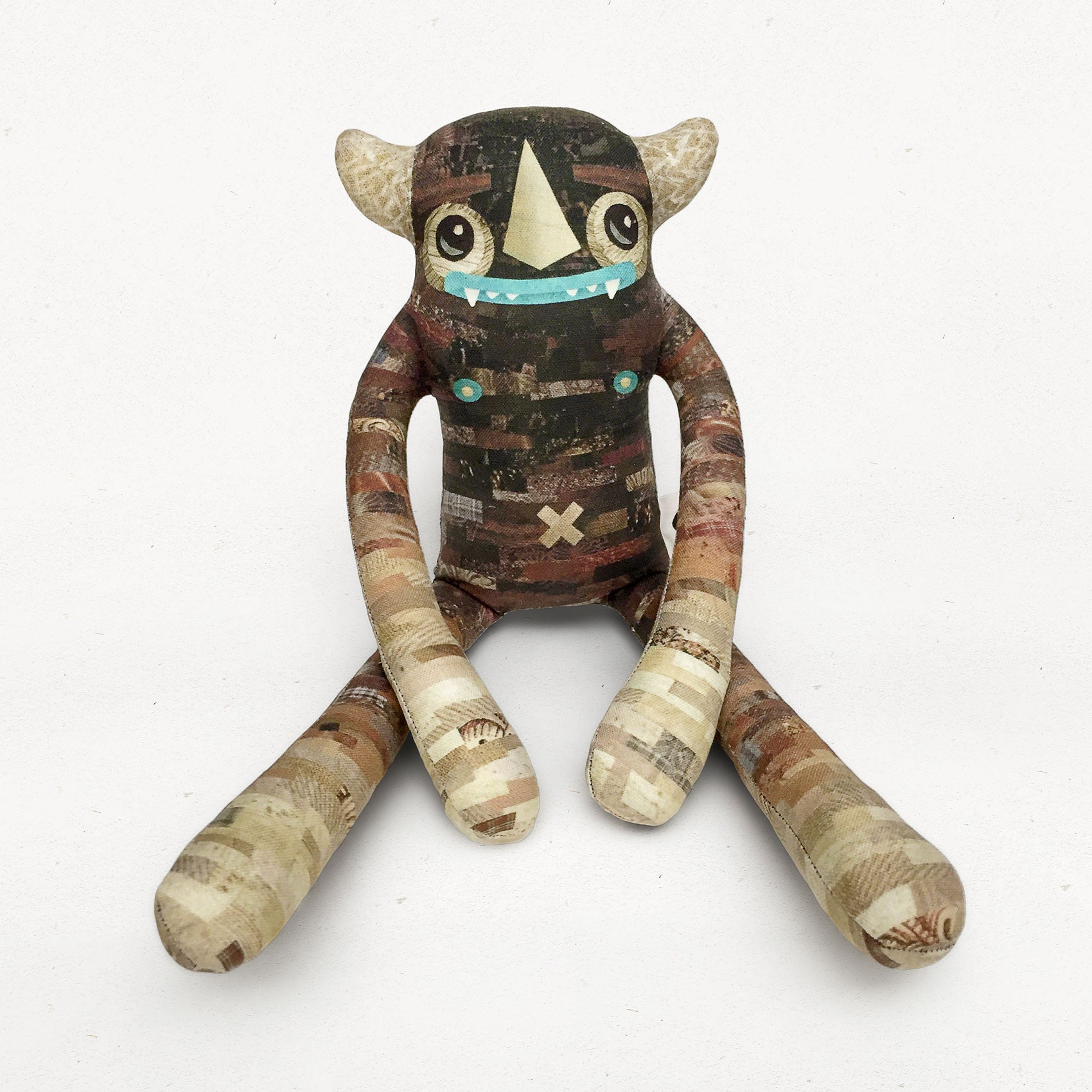 Leon - Papercut Monsters - Handmade Stuffed Toy