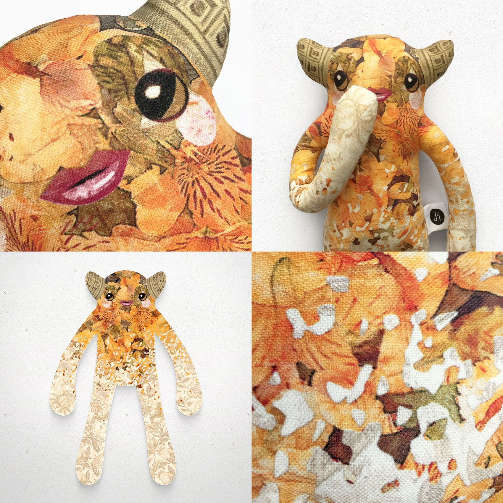 Lyla - Papercut Monsters - Handmade Stuffed Toy