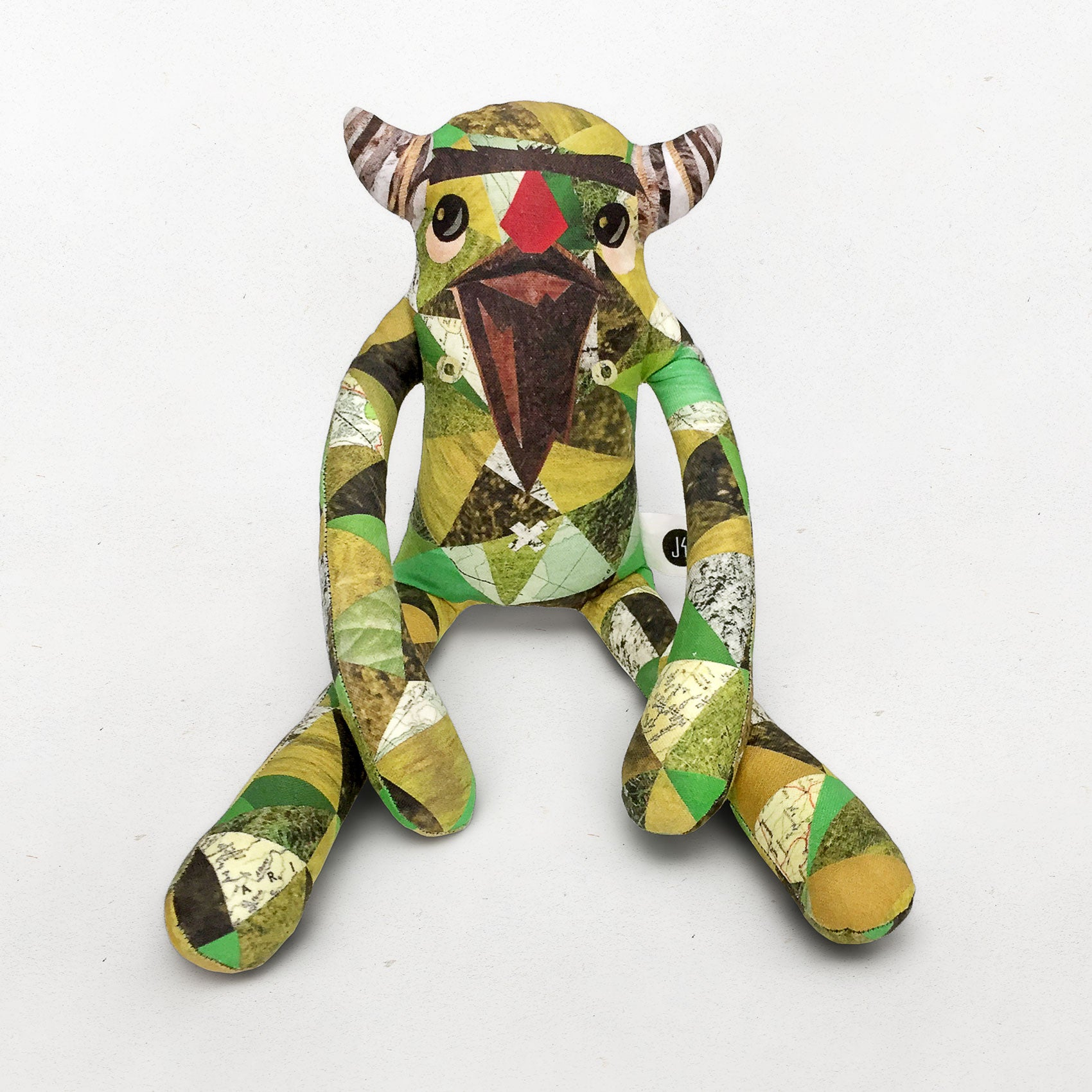 Magnus - Papercut Monsters - Handmade Stuffed Toy