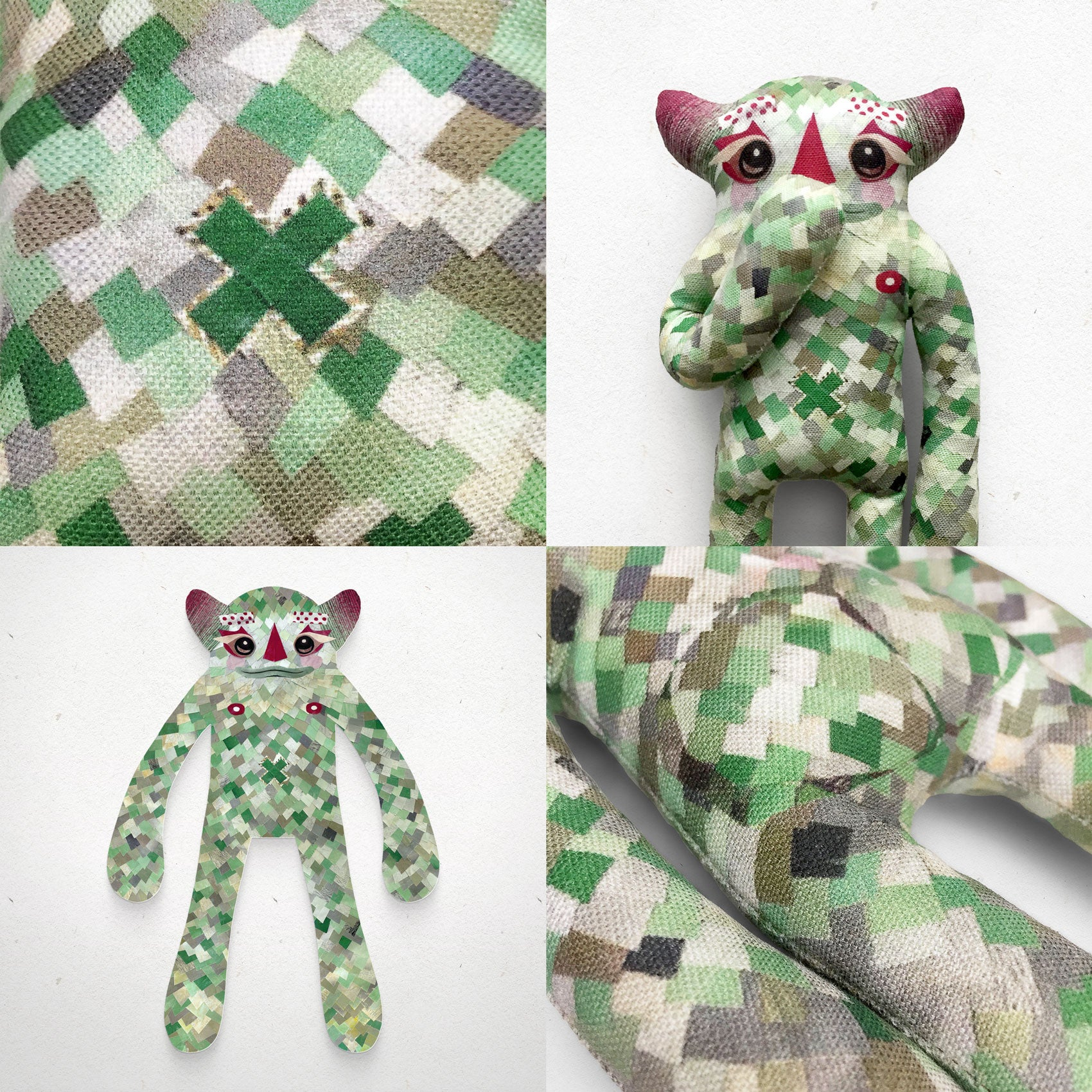 Murdoch - Papercut Monsters - Handmade Stuffed Toy