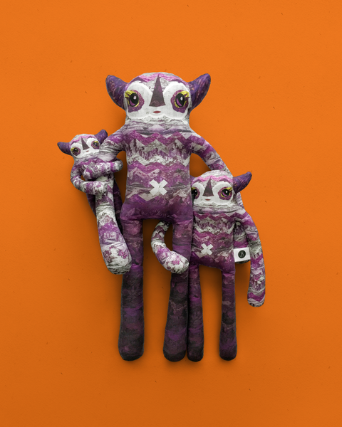 Ophelia - Papercut Monsters - Handmade Stuffed Toy