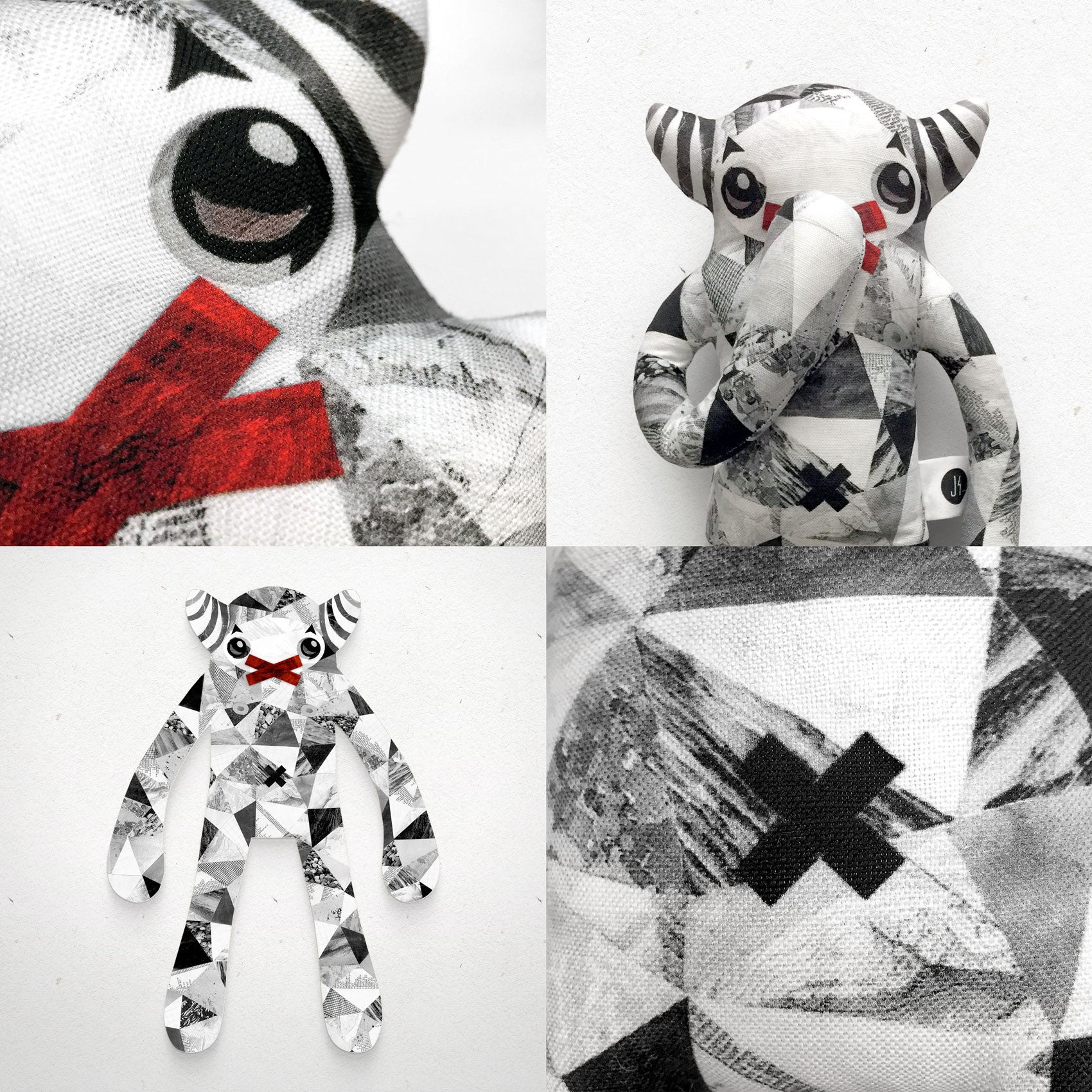 Quentin - Papercut Monsters - Handmade Stuffed Toy