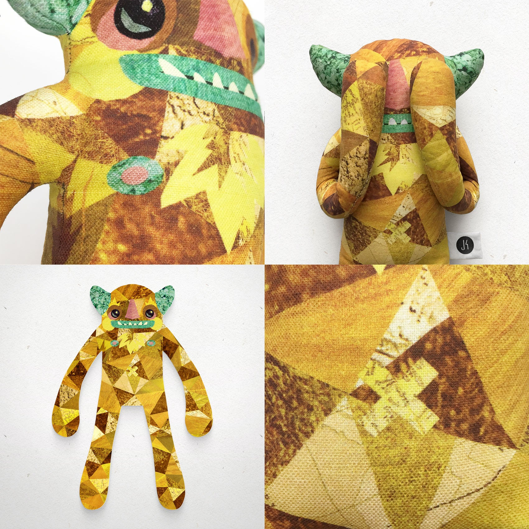 Woodsworth - Papercut Monsters - Handmade Stuffed Toy
