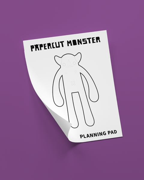 Free Planning Pad - Download and Print - Papercut Monsters - Handmade Stuffed Toy