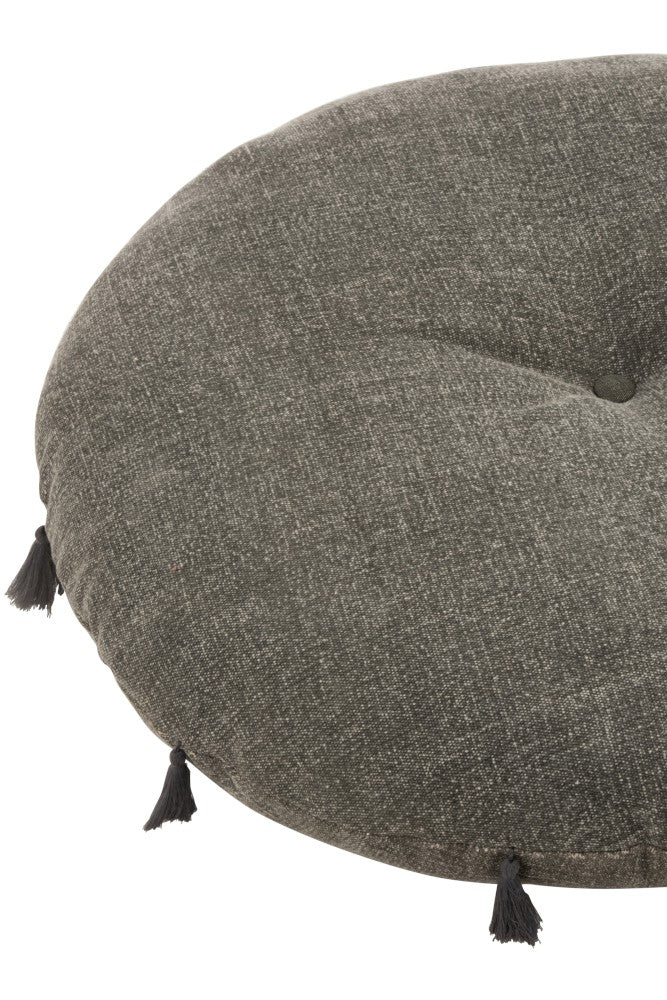 Gray Round Cushion
