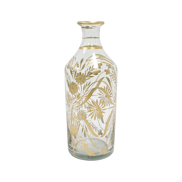 Botella con Dibujo Floral.Brass painted flower vase. Hk Living.Decoración.Decor.