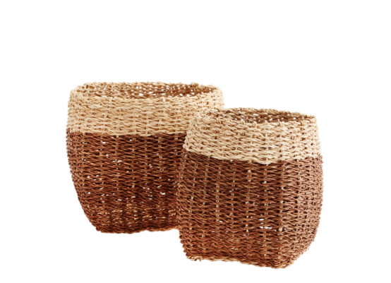 Cesta de cuerda de bambu. Bamboo rope baskets.Madam Stoltz. Decoración. Decor.