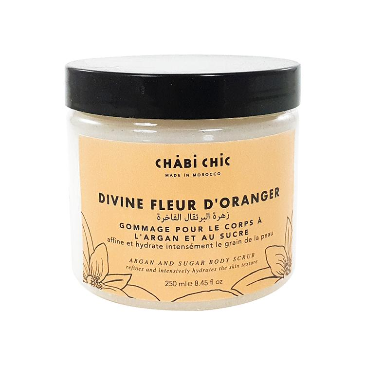 Orange blossom argan body scrub