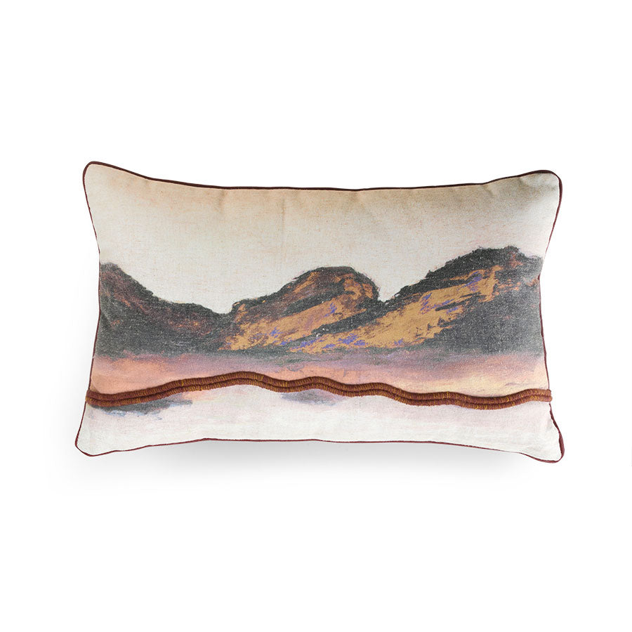 Cojín impreso montañas.printed cushion painted mountain. Hk Living. Decoración. Decor.