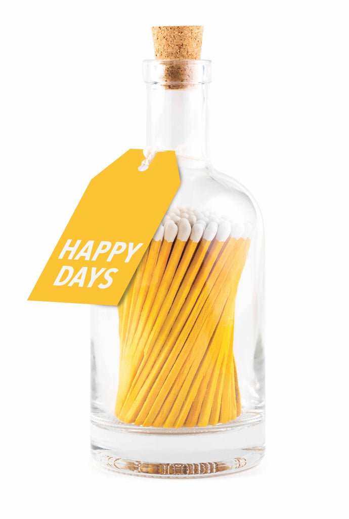 Cerillas Botella Yellow Happy Days