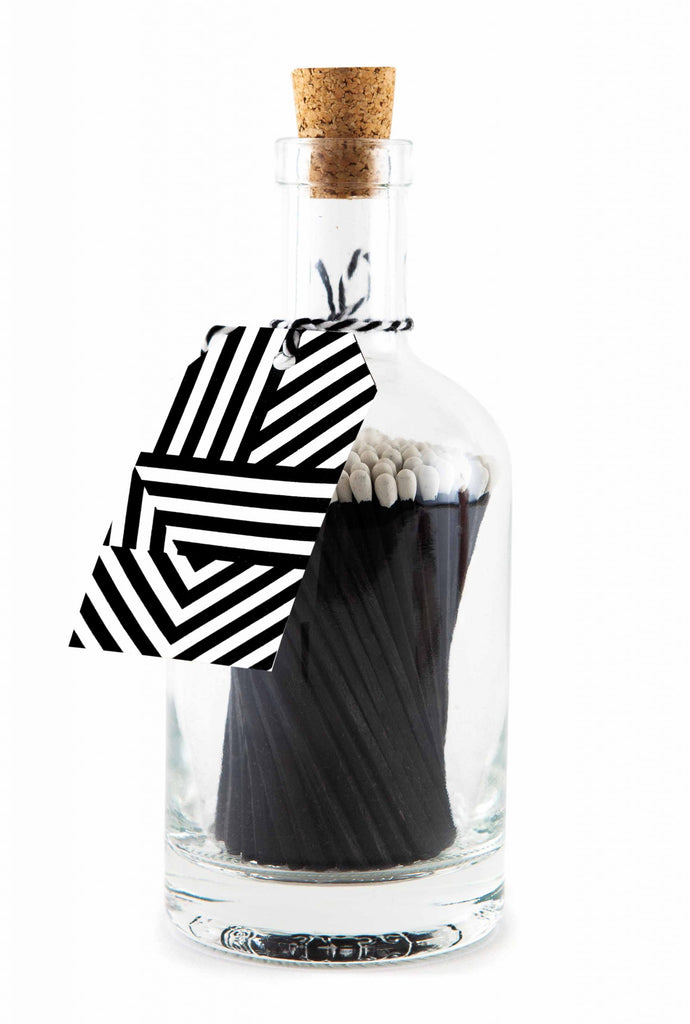 Cerillas Botella Black Geometric
