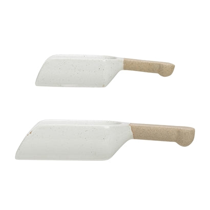 Cucharas de gres blanco. White stoneware Spoon. Vajilla. Tableware. Bloomingville. Decoración. Decor. Nomad Estilo.