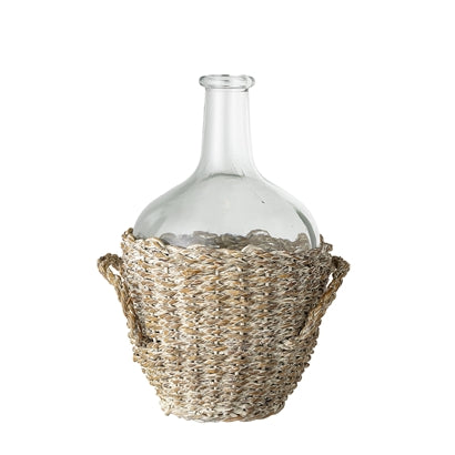 Tinaja de Cristal y Mimbre.Glass and Wicker Jar.Bloomingville.Decoración.Decor.Nomadestilo.