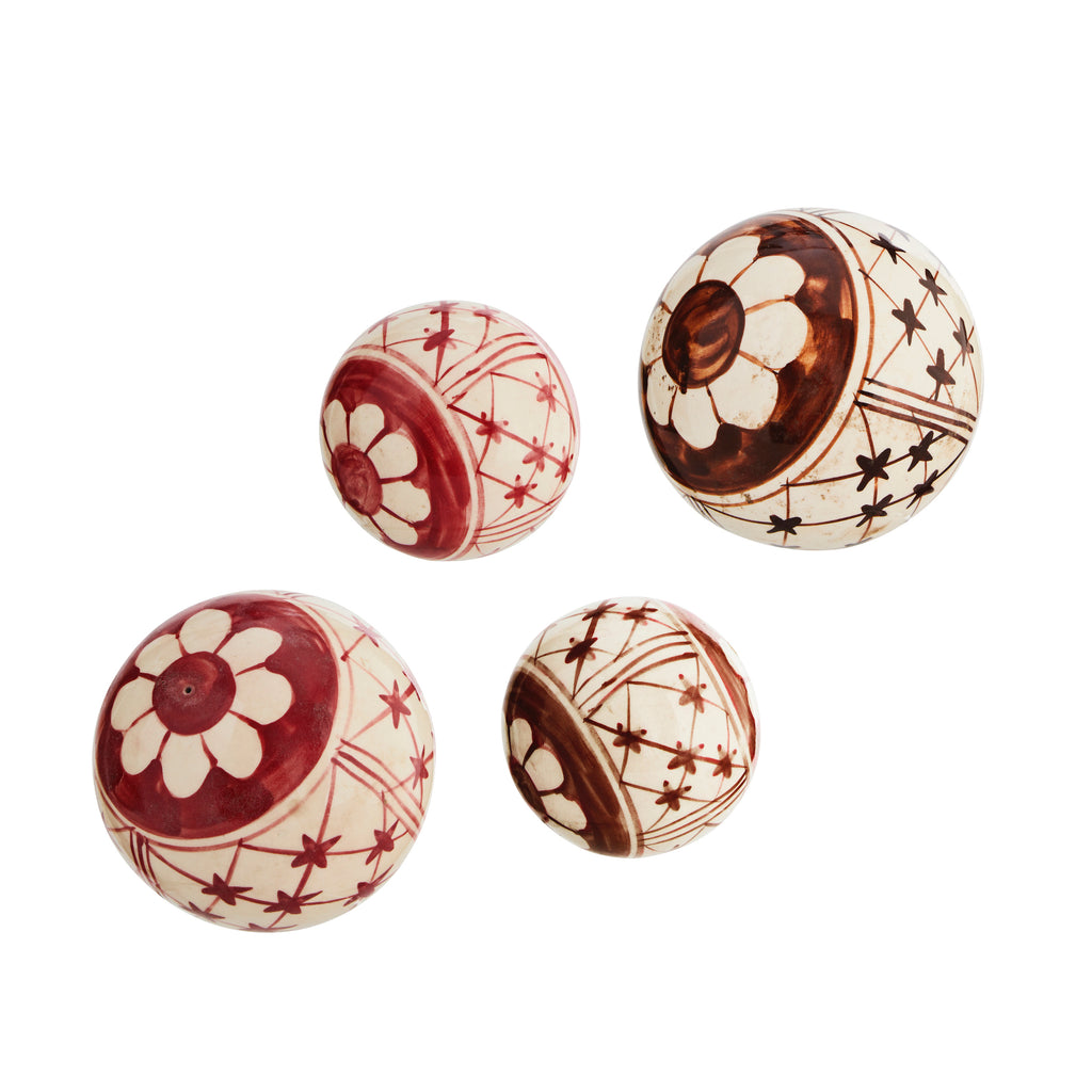 Set of 5 Decorative Stoneware Balls