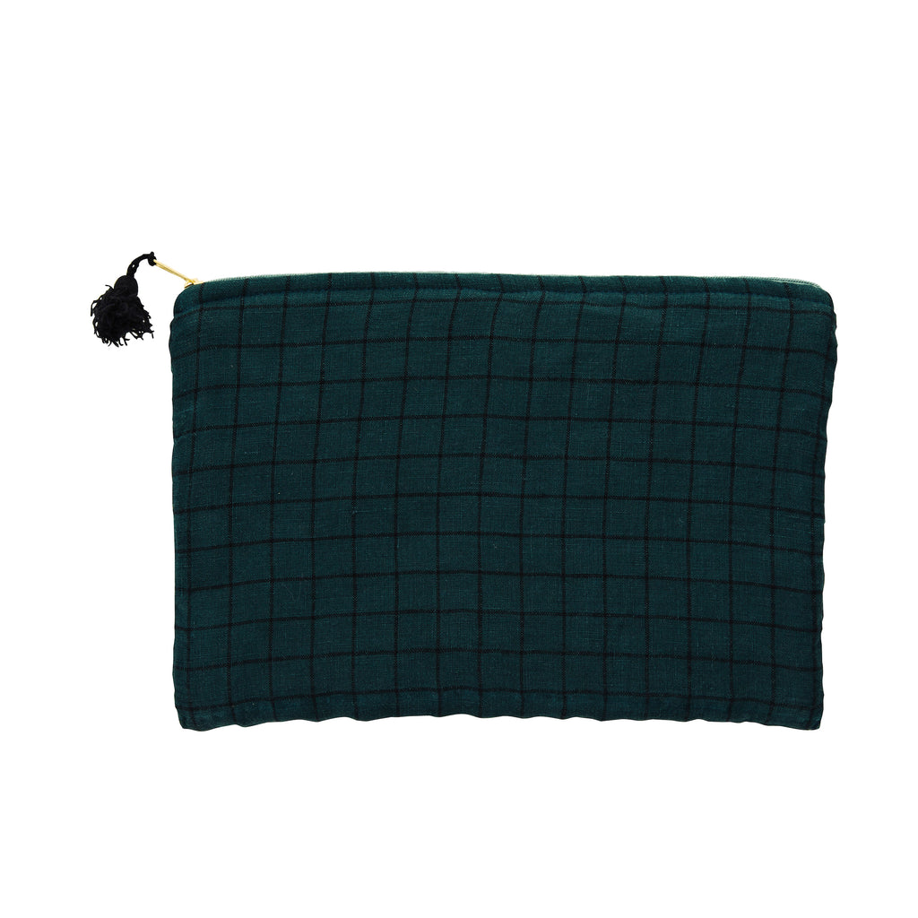 Checked Linen iPad Cover