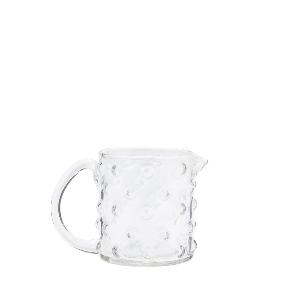 Small Textured Glass Jug