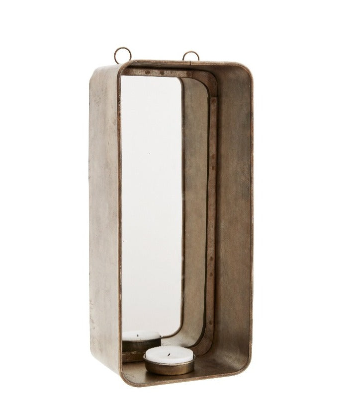 Candle Wall Sconce With Mirror