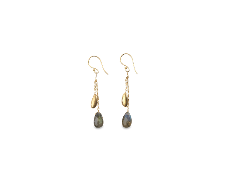 Pendientes labradorita keebu.keebu labradorite earrings. Nkuku. Decoración. Decor