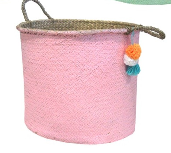 Color Basket with Pompon