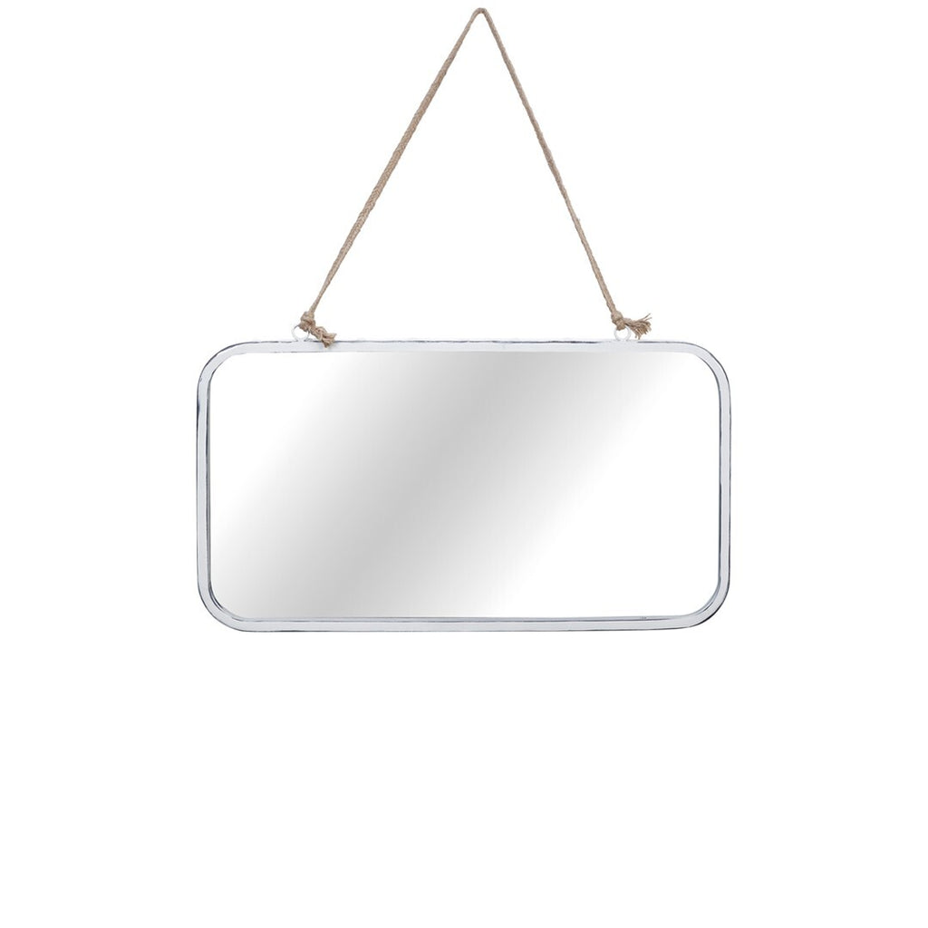 Espejo metálico blanco.White Metallic Mirror. Foimpex.Decoración. Decor.