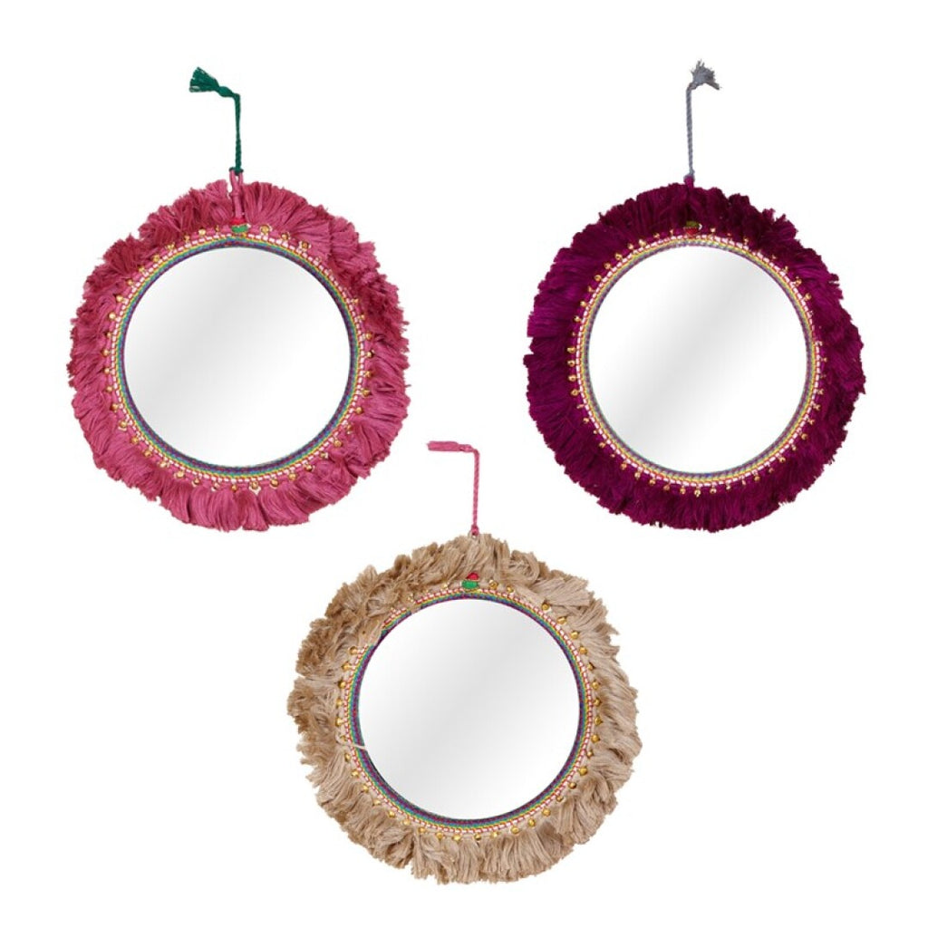 Espejo Flecos.Key chain fringed mirrors.Foimpex. Decoración. Decor.