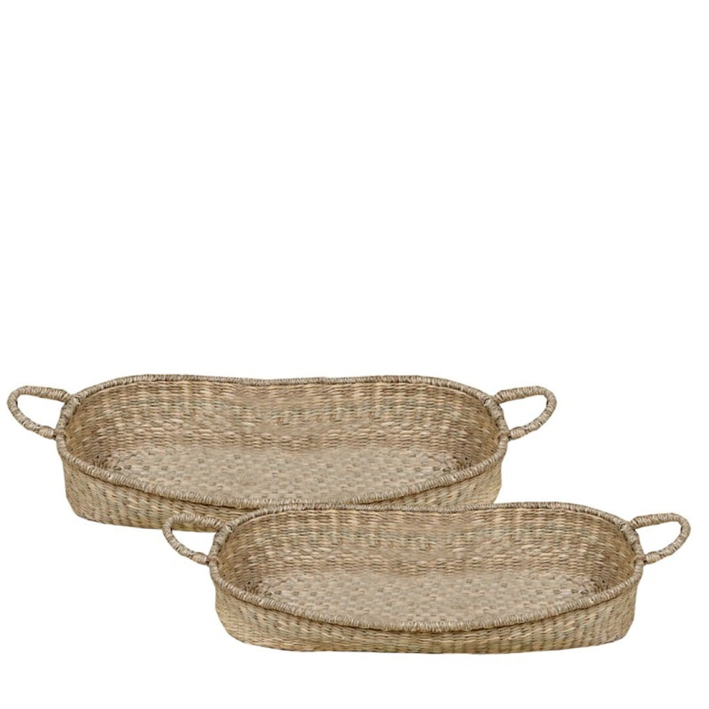 Cestas Ovaladas Mimbre. Wicker Oval Baskets. Foimpex. Decoración. Decor. Nomad Estilo.