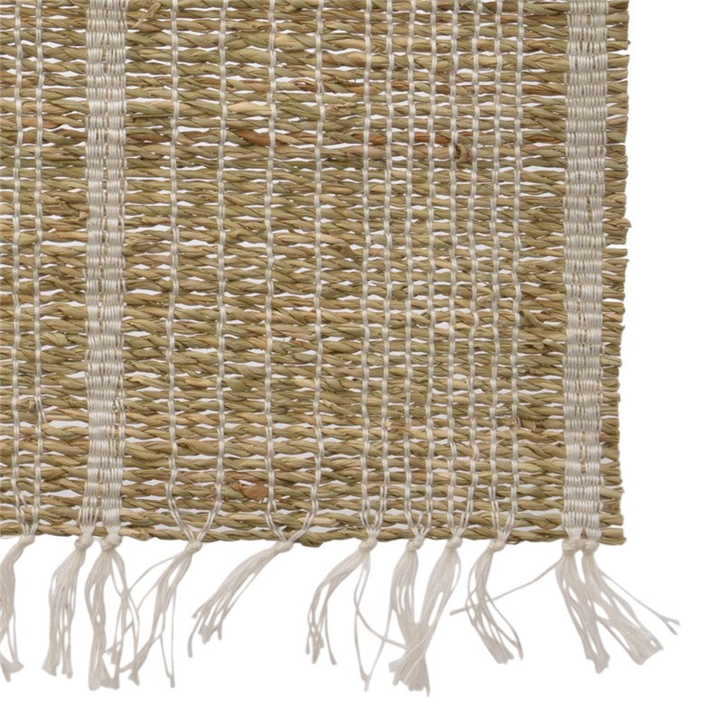 Camino de Mesa Rayas Mimbre. Table Runner Striped Wicker. Foimpex. Vajilla. Tableware. Nomad Estilo.
