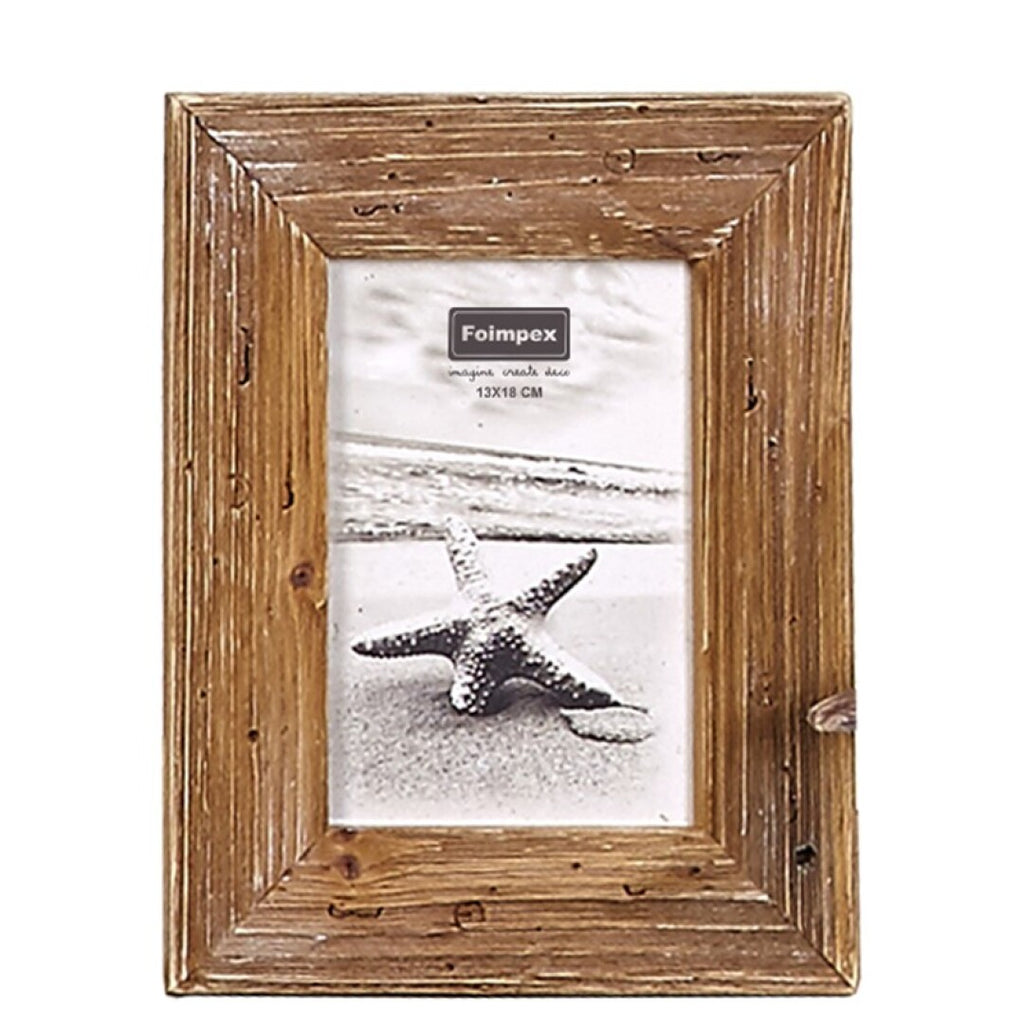 Marco de fotos en madera.Wooden photo frame. Foimpex. Decoración. Decor. Nomad Estilo.