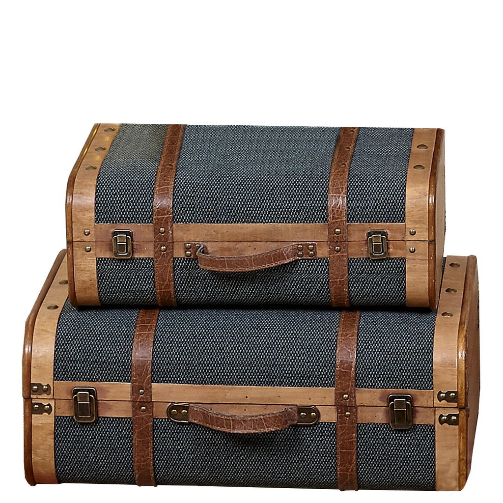 Set of two suitcases/bags in green