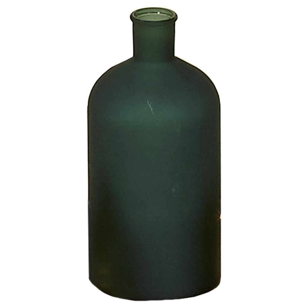 Botella Verde Frosted Farmacia. Green Frosted Pharmacy Bottle. Foimpex. Decoración. Decor. Nomad Estilo.