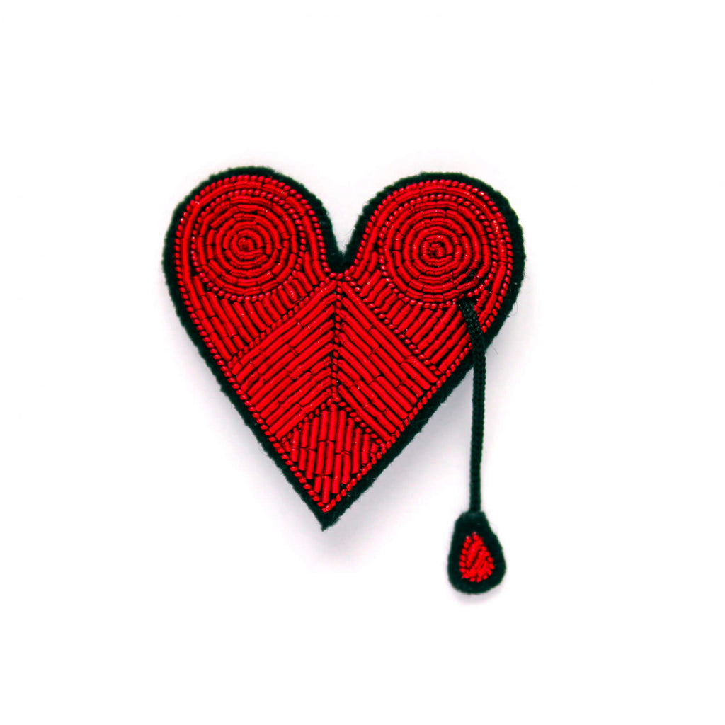 Broche Grande Corazón Herido. Big Brooch Wounded Heart. Macon&Lesquoy. Decoración.Decor