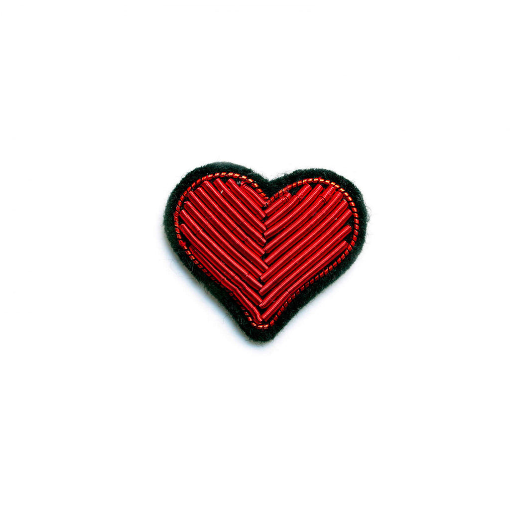 Broche Corazón Rojo.Red Heart Brooch. Macon&Lesquoy. Decoración.Decor